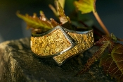 Custom Alaskan Gold Nugget belt style Wedding Band