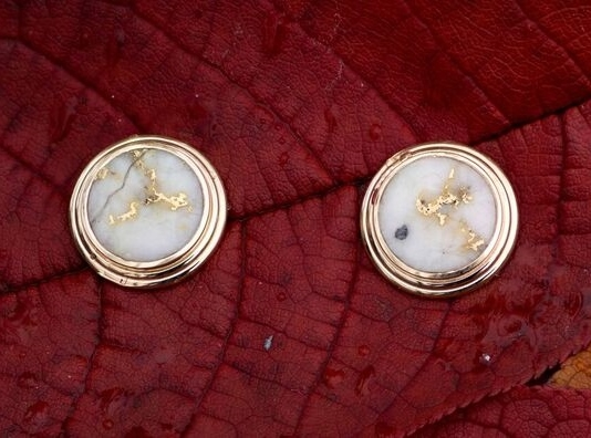 Genuine Gold Quatrz Earrings