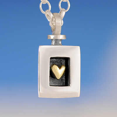 Sterling Silver Heart of Gold Pendant