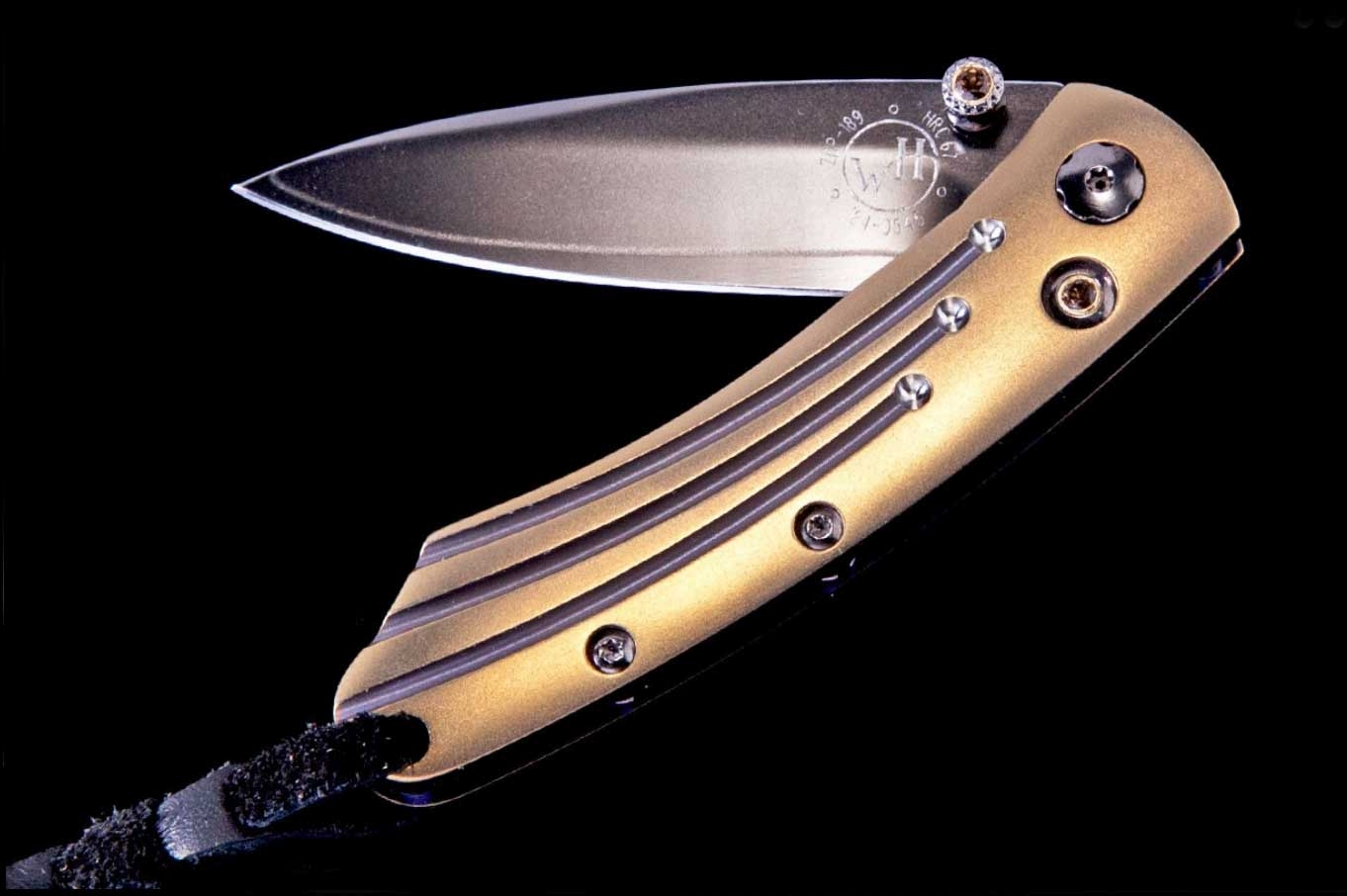 Pikatti Scorch Luxury Pocket Knife - William Henry Knives - Gold Rush Fine Jewelry