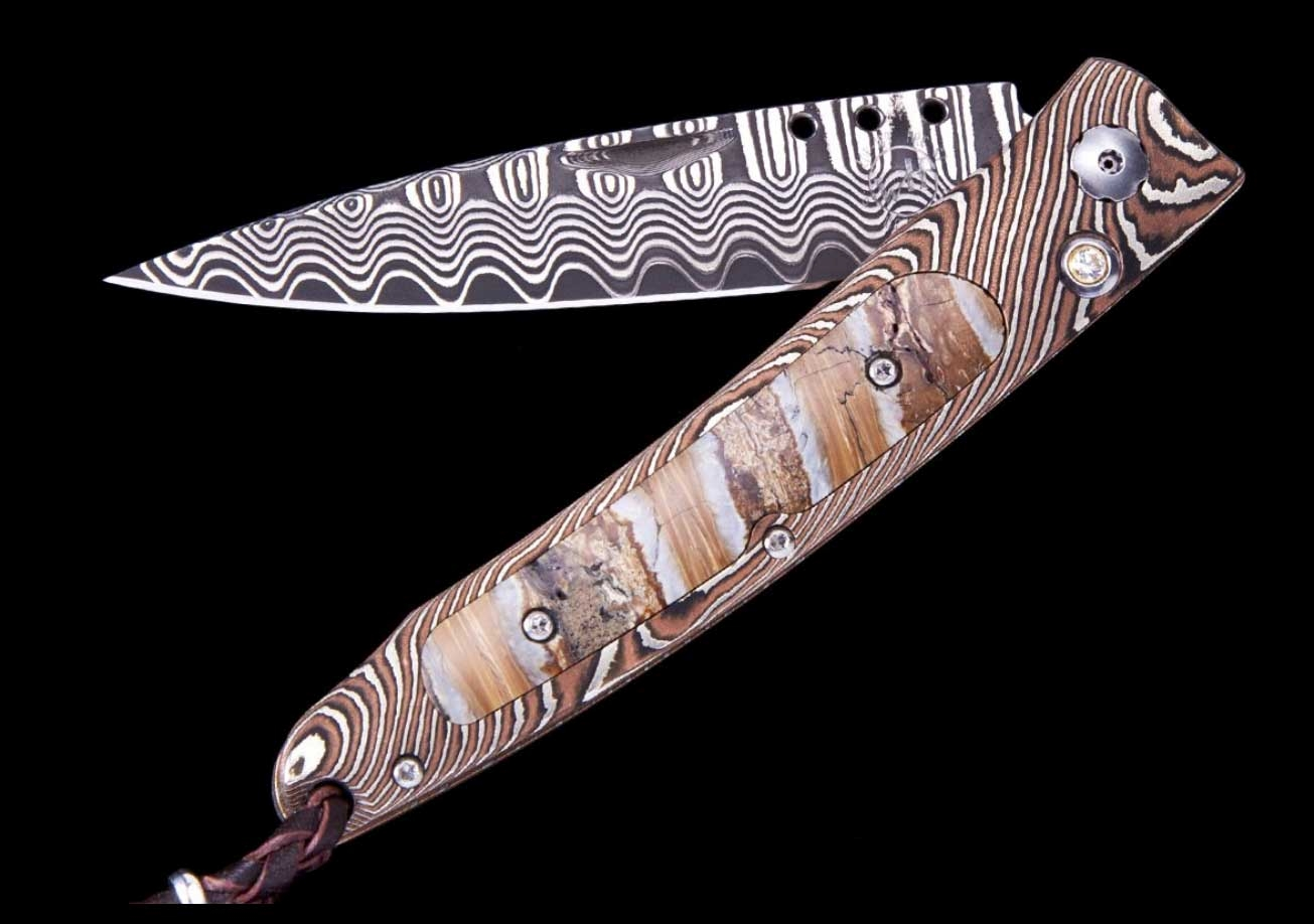 Ventana Glacial Luxury Pocket Knife - William Henry Knives - Gold Rush Fine Jewelry