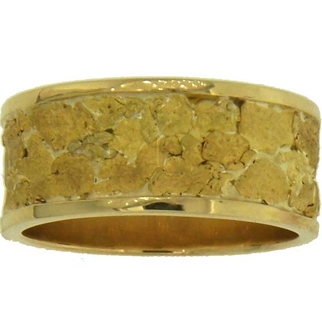 Custom Alaskan Gold Nugget Wedding Bands. Style and create your own one-of-a-kind Alaska Gold Nugget Wedding Band!