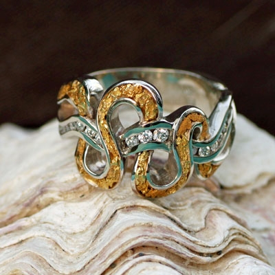 Alaska Gold Nugget Rings