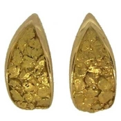 Custom Alaskan Gold Nugget Earrings