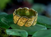 Custom Alaskan Gold Nugget wedding band.