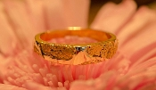 Alaskan Gold Nugget Wedding Band