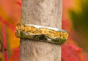 Alaskan Gold Nugget White Gold wedding band.
