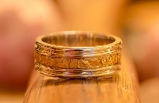 Natural Alaskan Gold Nugget Wedding Band