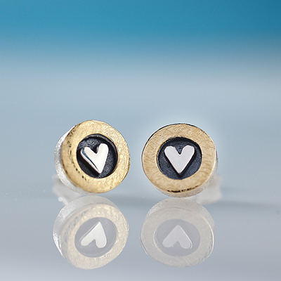 Sterling Silver From the Heart Earrings