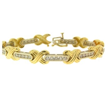 Diamond Celebrity Bracelet in 14kt two tone Gold